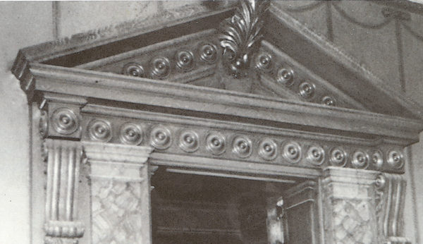 Moulding in William Jennings Home